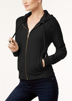 Calvin Klein Velour Lace-Trim Jacket, a Macy's Exclusive Style