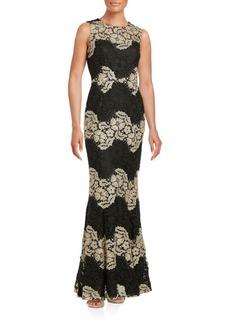 Calvin Klein Lace Trumpet Gown