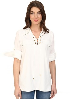 Calvin Klein Lace Up Roll Sleeve