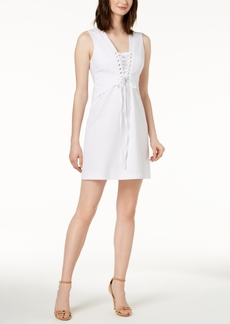 Calvin Klein Lace-Up Sheath Dress