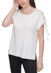 Calvin Klein Lace-Up Sleeve Top