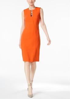 Calvin Klein Laddered Scuba Sheath Dress