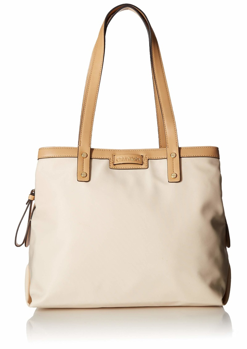 Calvin Klein Lane Nylon Triple Compartment Tote