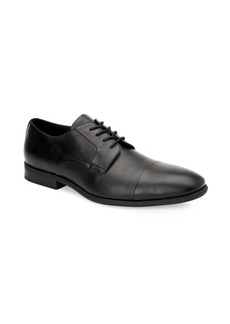 Calvin Klein Langston Cap-Toe Leather Derby Shoes