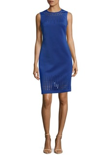 Calvin Klein Laser Cut Detail Dress