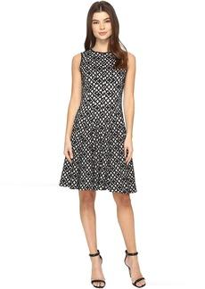 Calvin Klein Laser Cut Flare Dress