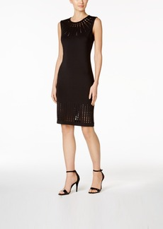 Calvin Klein Laser-Cut Sheath Dress
