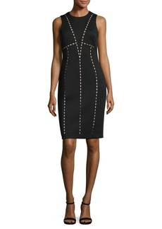 Calvin Klein Laser Cut Sheath Dress