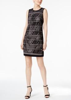Calvin Klein Laser-Cut Shift Dress