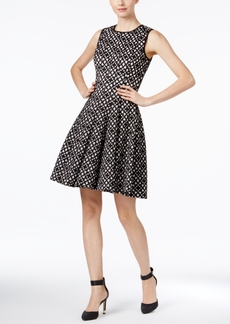 Calvin Klein Laser-Cutout Fit & Flare Dress
