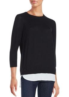 Calvin Klein Layered Cotton Blend Top
