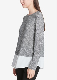 Calvin Klein Layered-Look Sweater