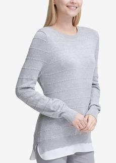 Calvin Klein Layered-Look Sweater