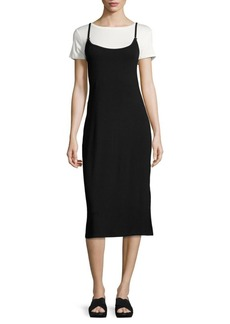 Calvin Klein Layered Midi Dress
