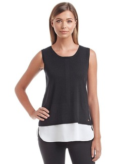 Calvin Klein Layered Sweater Top