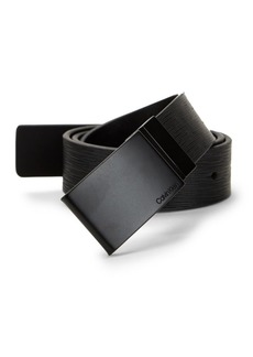 Calvin Klein Reversible Plate-Buckle Leather Belt
