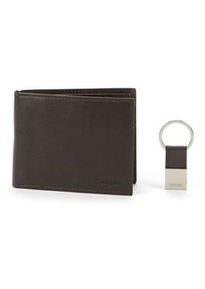 Calvin Klein Leather Bifold Wallet with ID Flap