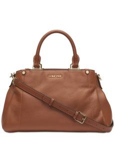 Calvin Klein Jackson Pebble Leather Satchel