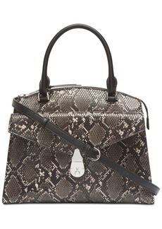 Calvin Klein Small Lock Leather Satchel