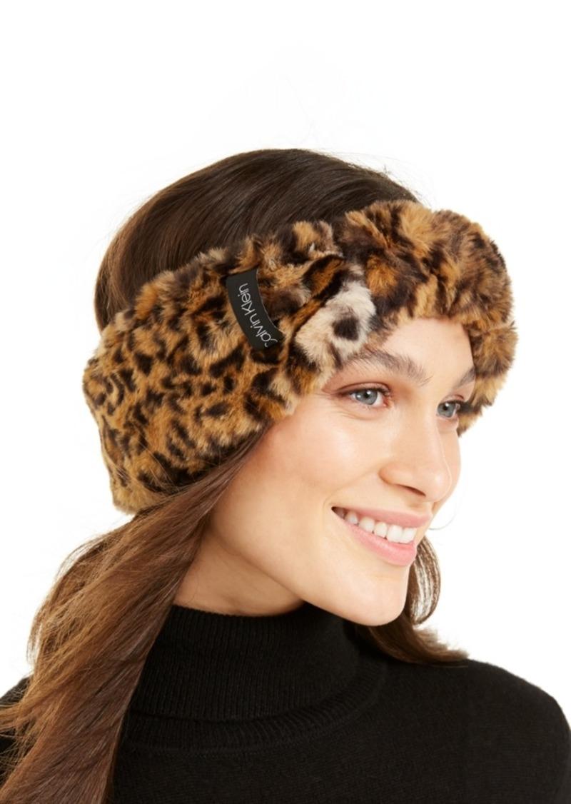 Calvin Klein Leopard Faux Fur Headband