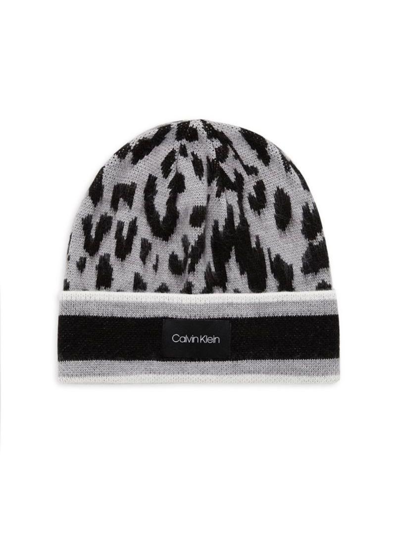 Calvin Klein Leopard Print Beanie