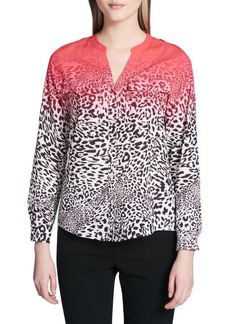 Calvin Klein Leopard Print Button-Down Shirt