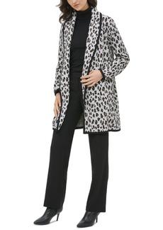 Calvin Klein Leopard-Print Cardigan Jacket