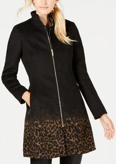 Calvin Klein Leopard-Print Coat