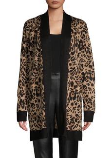 Calvin Klein Leopard-Print Long Cardigan
