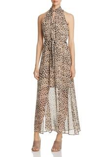 Calvin Klein Leopard Print Maxi Dress