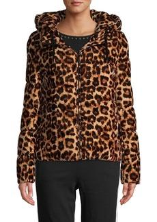 Calvin Klein Leopard-Print Puffer Jacket