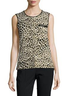 Calvin Klein Leopard Printed Top