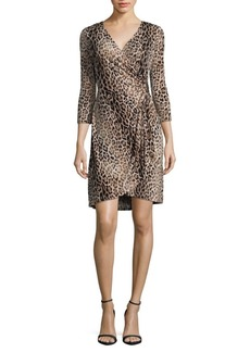 Calvin Klein Leopard Wrap Dress