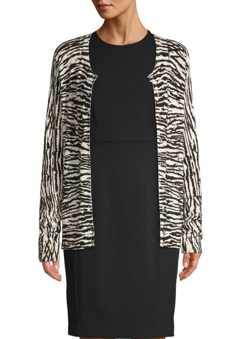 Calvin Klein Lightweight Zebra Jacquard Cardigan