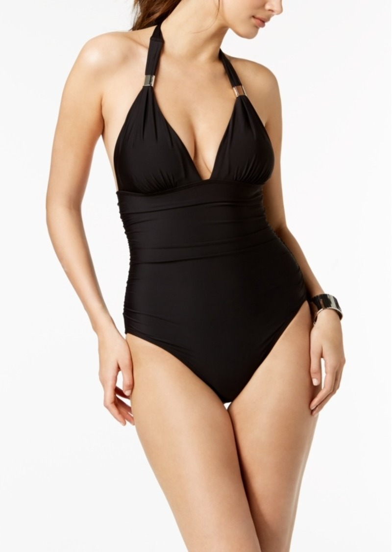 ab02f43046 On Sale today! Calvin Klein Calvin Klein Liquid Shirred Halter One ...