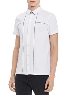Calvin Klein Liquid Touch Cotton Button-Down Shirt
