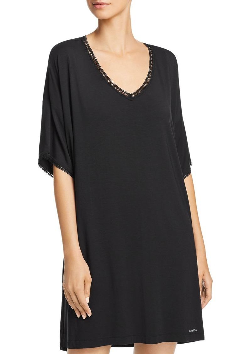 Calvin Klein Liquid Touch Lounge Short-Sleeve Sleepshirt