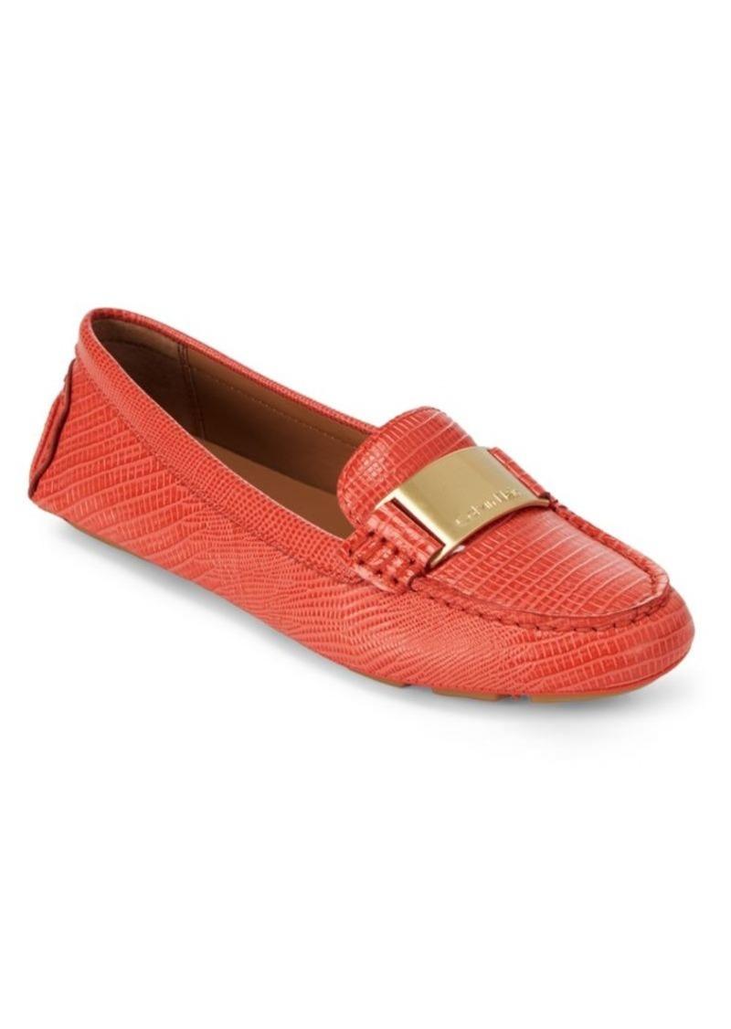 b67b3558557 Calvin Klein Lisette Leather Flats Now  59.99