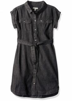 Calvin Klein Little Girls' Denim Shirtdress