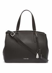 Calvin Klein Lock Daytona Leather Statement Satchel