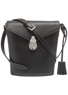 Calvin Klein Lock Leather Bucket Bag