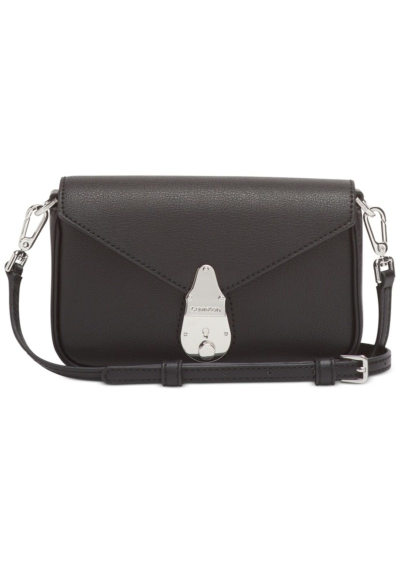 Calvin Klein Lock Leather Shoulder Bag