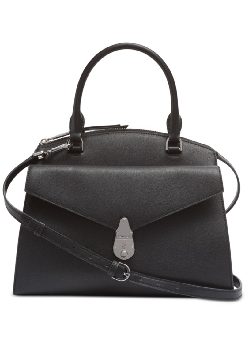 Calvin Klein Lock Leather Satchel