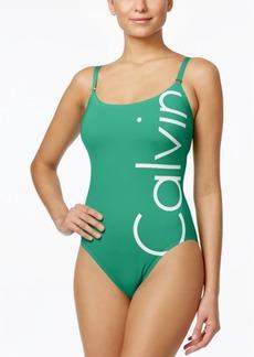Calvin Klein Logo Classic One-Piece Swimsuit Women's Swimsuit