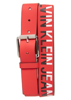 Calvin Klein Logo Leather Belt