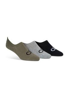 Calvin Klein Logo No Show Liner Socks, Pack of 3