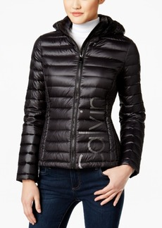 Calvin Klein Logo Packable Puffer Coat