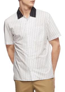 Calvin Klein Logo-Print Short-Sleeve Shirt