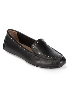Calvin Klein Lolly Cow Silk Leather Loafers