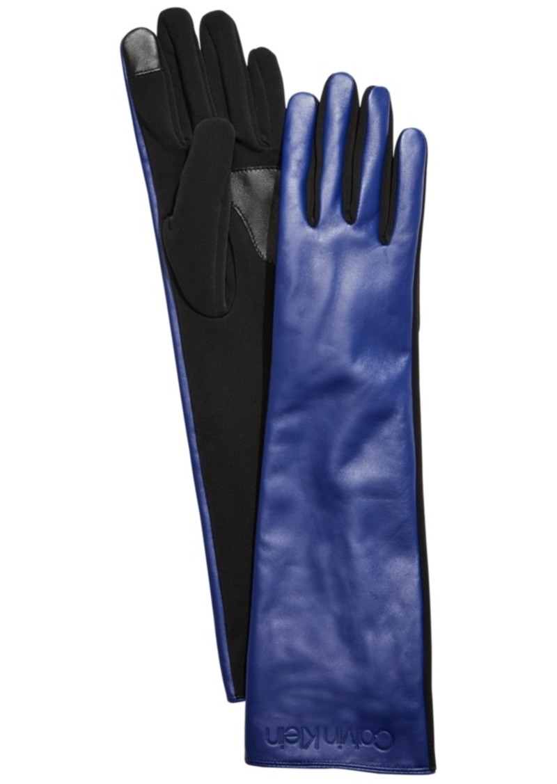 Calvin Klein Long Leather Gloves